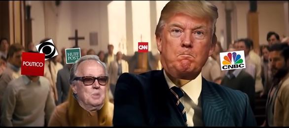 Ông Trump bỗng gặp rắc rối vì clip chế - Ảnh 1.