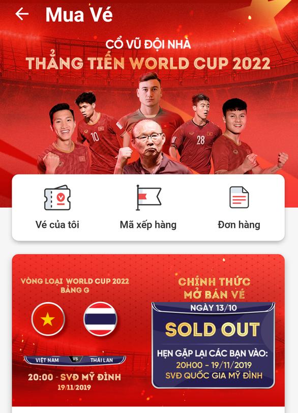 VFF tuyên bố hết vé trận Việt Nam gặp UAE và Thái Lan - Ảnh 2.