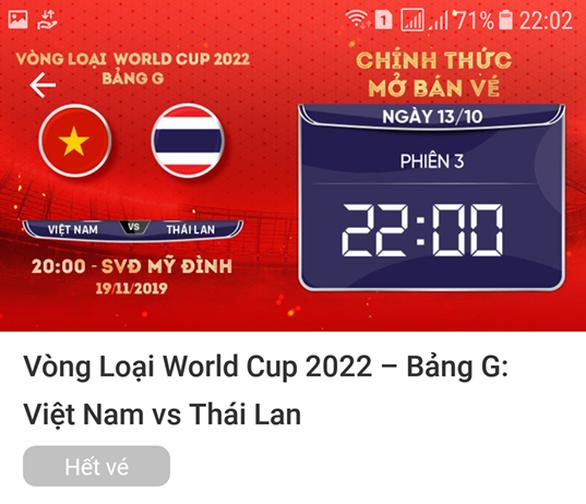 VFF tuyên bố hết vé trận Việt Nam gặp UAE và Thái Lan - Ảnh 1.