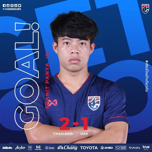 Thắng UAE 2-1, Thái Lan tiếp tục dẫn đầu bảng G - Ảnh 1.