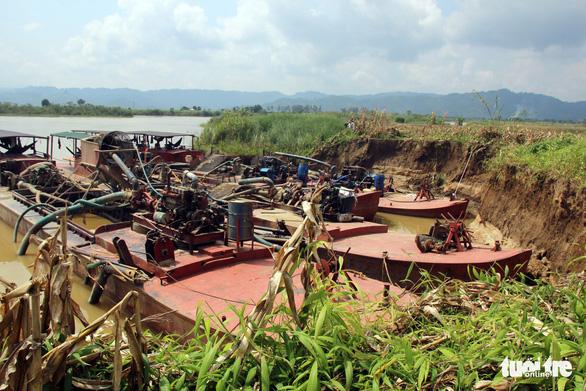 Tạm đình chỉ giấy phép doanh nghiệp mua đất ruộng để khai thác cát - Ảnh 1.