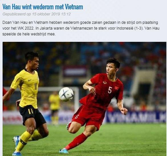 CLB Heerenveen khen Việt Nam quá mạnh và đợi Văn Hậu ở Hà Lan - Ảnh 1.