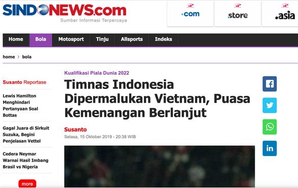 Báo Indonesia vùi dập đội nhà tơi tả - Ảnh 1.