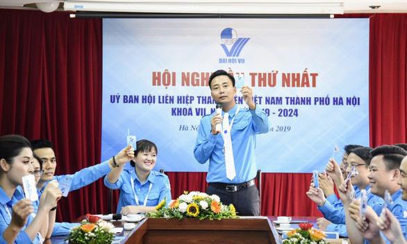 Anh Nguyễn Đức Tiến làm chủ tịch Hội LHTN TP Hà Nội - Ảnh 1.