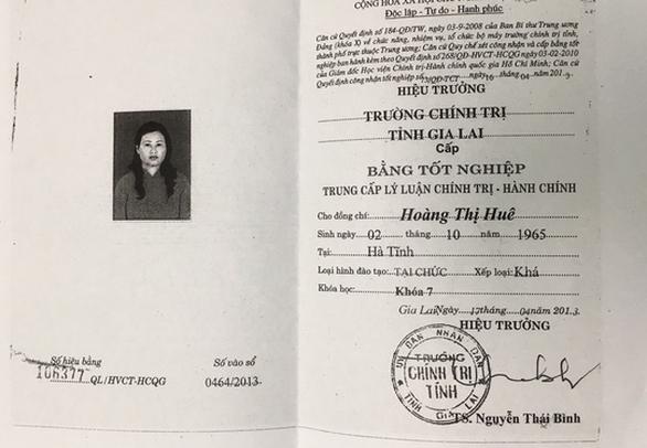 Hiệu trưởng trường mầm non xài bằng tốt nghiệp THPT giả - Ảnh 1.