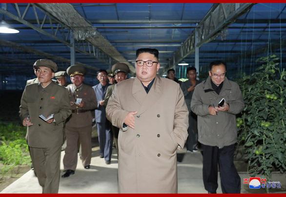 Ông Kim Jong Un thị sát nhà kính trồng rau trong bối cảnh cả nước thiếu lương thực - Ảnh 1.