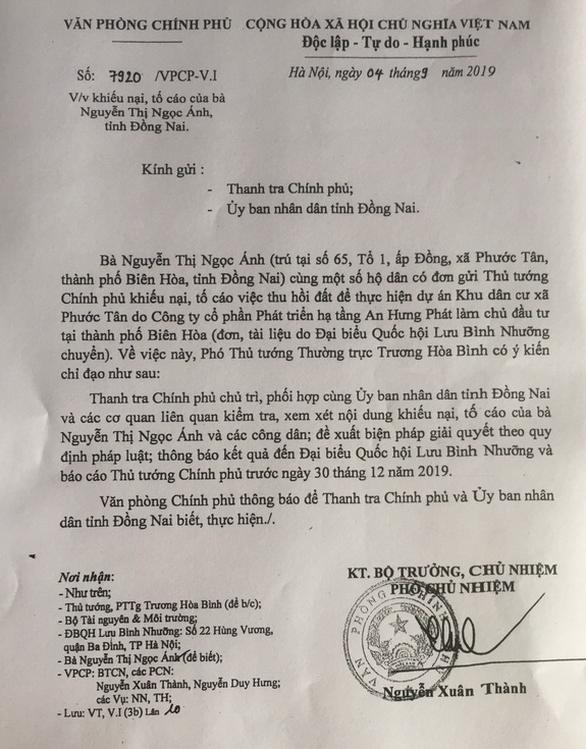 Thêm một dự án dân cư 50ha ở Đồng Nai bị Thanh tra Chính phủ sờ gáy - Ảnh 2.