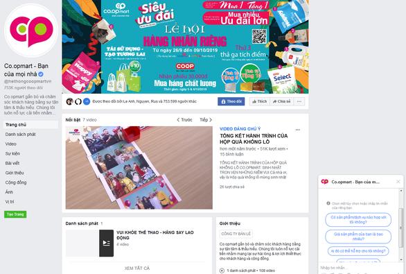 Co.opmart không bán hàng trên Facebook - Ảnh 1.