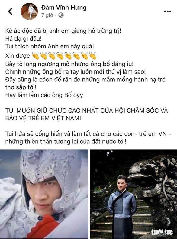 Điều tra Facebooker Đàm Vĩnh Hưng nghi kích động bạo lực vụ cha đánh con - Ảnh 6.
