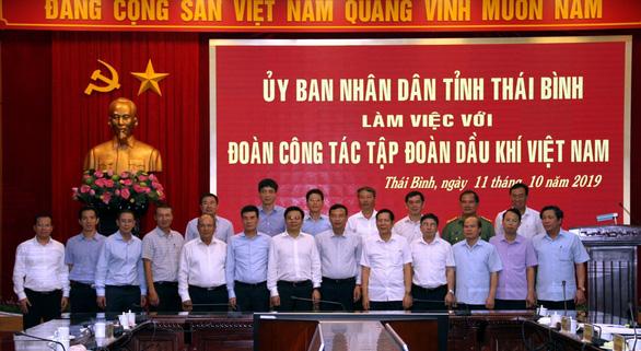Lãnh đạo UBND tỉnh Thái Bình làm việc với Tổng giám đốc  PV GAS - Ảnh 1.