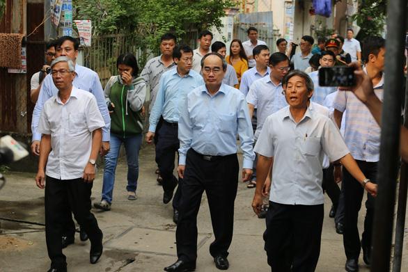 Bí thư Nguyễn Thiện Nhân kiểm tra công trình trái phép của phó chủ tịch HĐND Thủ Đức - Ảnh 2.
