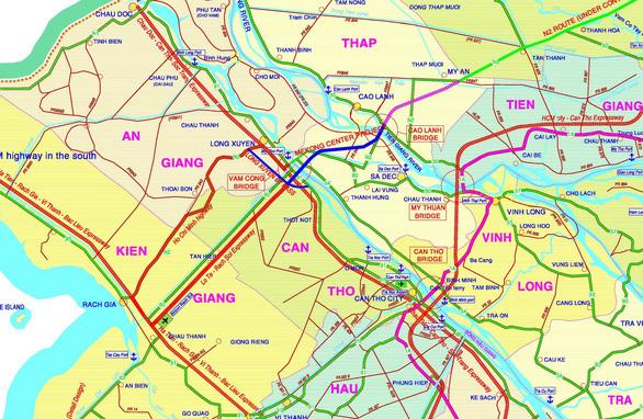 Tuyến đường cầu Cao Lãnh - cầu Vàm Cống sẽ thành đường cao tốc - Ảnh 1.