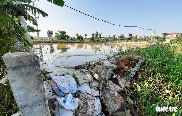 Nhà máy nước nghi xả bùn thải ra hồ điều hòa lớn nhất TP Vinh - Ảnh 3.