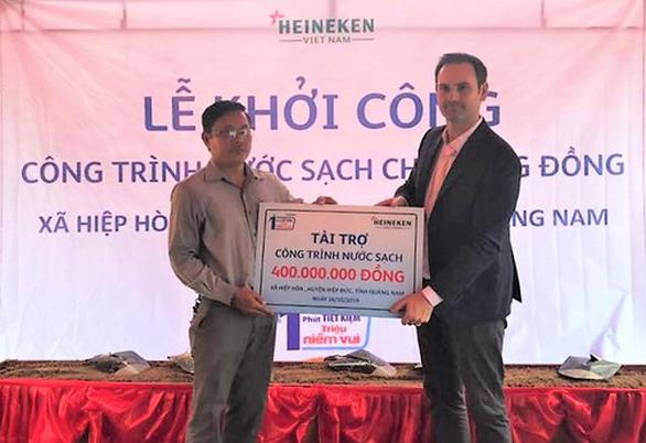Heineken Việt Nam tài trợ công trình nước sạch tại Quảng Nam - Ảnh 1.