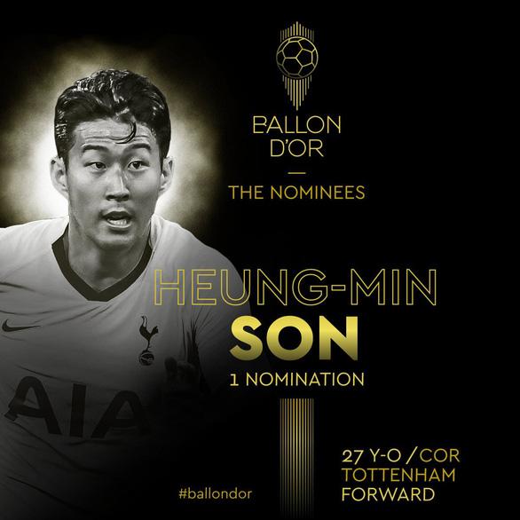 Son Heung Min gây sốt vì được đề cử Quả bóng vàng - Ảnh 2.