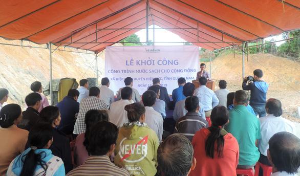 Heineken Việt Nam tài trợ công trình nước sạch tại Quảng Nam - Ảnh 3.