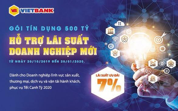 Doanh nghiệp mới được vay ưu đãi lãi suất 7% từ Vietbank - Ảnh 1.