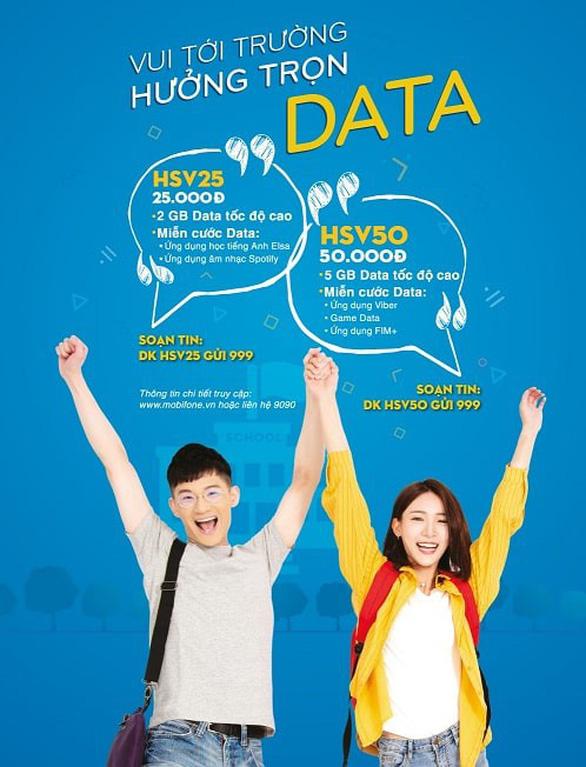 MobiFone triển khai gói cước HSV50, HSV25 dành cho học sinh, sinh viên - Ảnh 1.