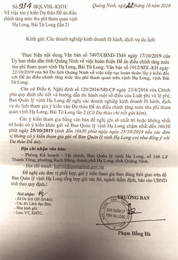 Choáng với đề xuất mức phí tham quan lưu trú đêm ở Vịnh Hạ Long tăng... 73% - Ảnh 4.