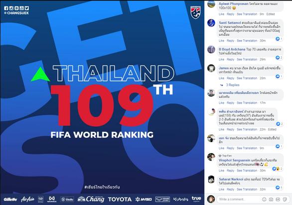 Tăng hạng, CĐV Thái Lan đòi thắng tiếp để... kịp Việt Nam trong top 100 - Ảnh 1.