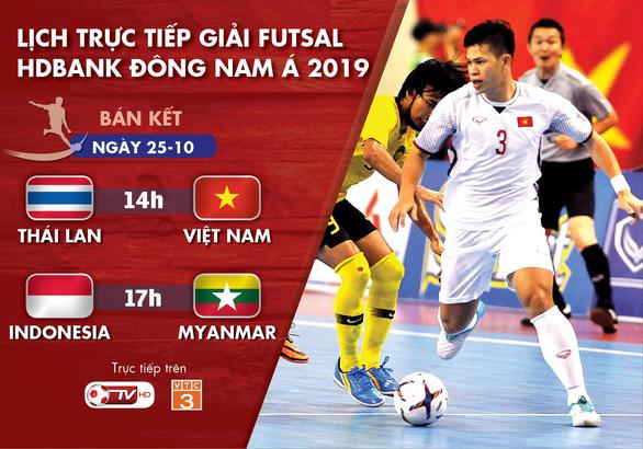 Lịch trực tiếp bán kết Giải futsal Đông Nam Á 2019: Việt Nam quyết đấu Thái Lan - Ảnh 1.