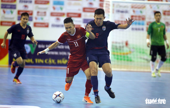 Futsal Việt Nam lại tiếp tục thua người Thái - Ảnh 1.