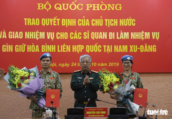 Nữ sĩ quan xinh đẹp của Việt Nam đi gìn giữ hòa bình tại Nam Sudan - Ảnh 1.