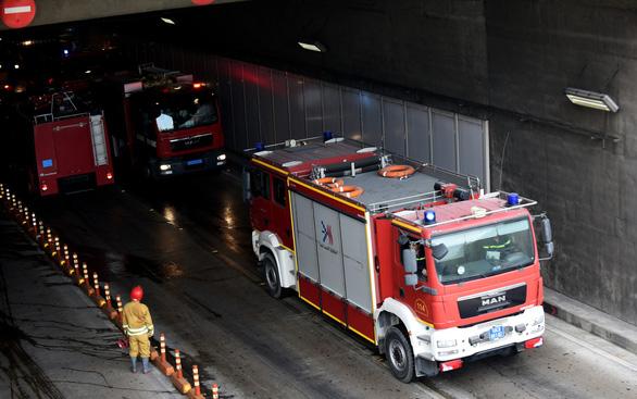 Diễn tập phòng cháy chữa cháy tại đường hầm sông Sài Gòn - Ảnh 3.