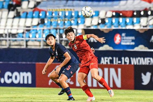 U19 Việt Nam thắng Thái Lan 2-0 ở Giải U19 nữ vô địch châu Á 2019 - Ảnh 1.