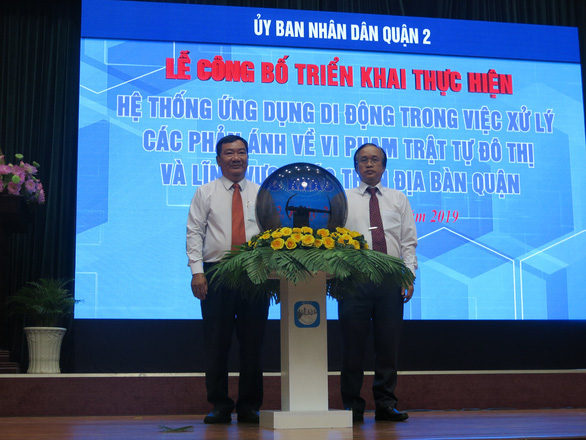 TP.HCM: Quận 2 ra mắt ứng dụng di động xử lý vi phạm xây dựng - Ảnh 1.