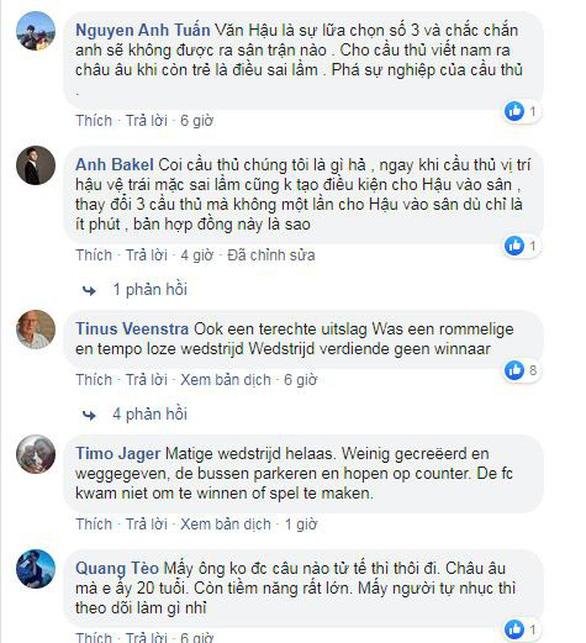 CĐV Việt Nam lo lắng khi HLV Jansen chưa đủ lòng tin với Văn Hậu - Ảnh 1.