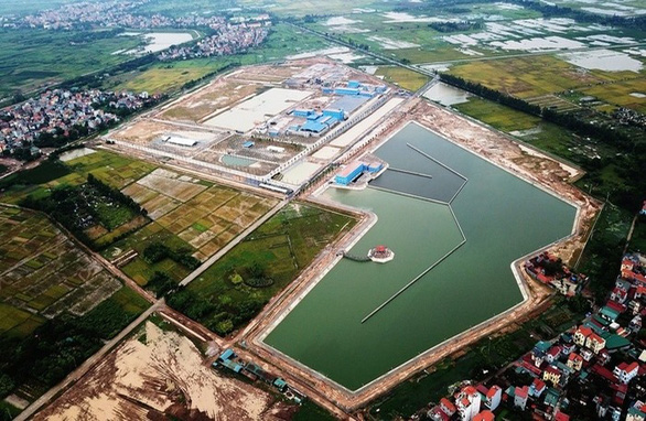 Nhà máy nước mặt Sông Đuống chưa nghiệm thu đã cấp nước cho dân - Ảnh 1.
