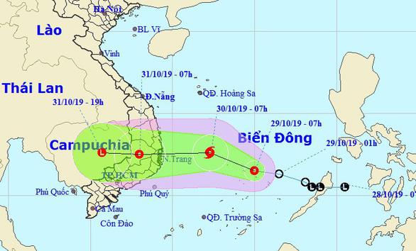 Áp thấp cách Song Tử Tây 140km, miền Trung, Tây Nguyên mưa rất lớn - Ảnh 1.