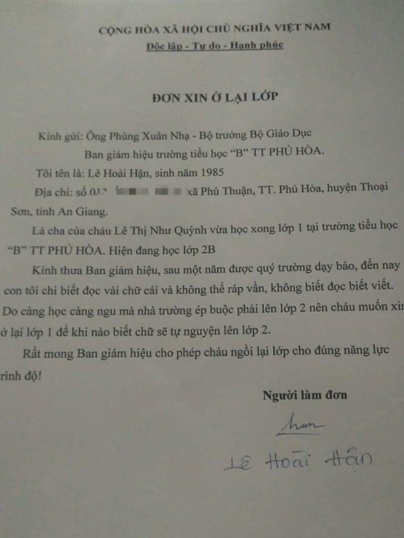 His father sent an application to the Minister asking him to stay in 1st grade because he read more - Picture 2.
