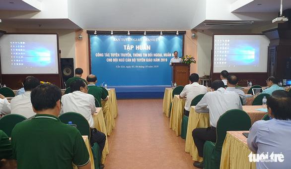 Hơn 100 cán bộ tuyên giáo TP.HCM tập huấn công tác tuyên truyền, đối ngoại - Ảnh 1.