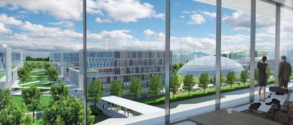 Bến Cát sắp có trung tâm thương mại, đại học quốc tế - Ảnh 1.