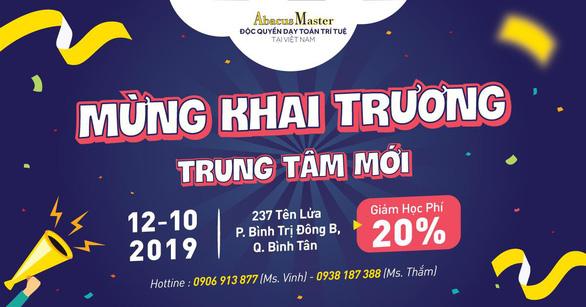 Toán trí tuệ Abacus Master Việt Nam khai trương chi nhánh quận Bình Tân - Ảnh 4.