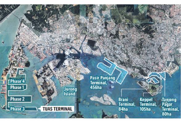 Choáng ngợp với siêu cảng container của Singapore - Ảnh 2.