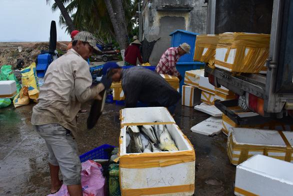 Người nuôi thủy sản trên vịnh Vân Phong hối hả bán cá chạy bão số 5 - Ảnh 8.