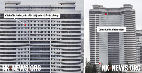 Vì sao Triều Tiên che chắn cửa sổ các tòa nhà cao tầng? - Ảnh 1.