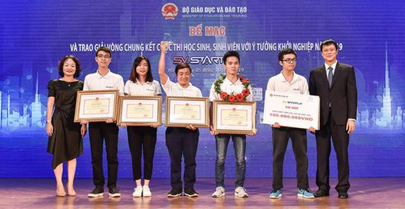Sinh viên Bách khoa chiến thắng cuộc thi khởi nghiệp HS-SV - Ảnh 1.