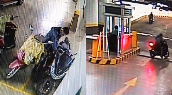 Truy tìm kẻ trộm xe vượt barie tẩu thoát trong chung cư tại TP.HCM - Ảnh 2.