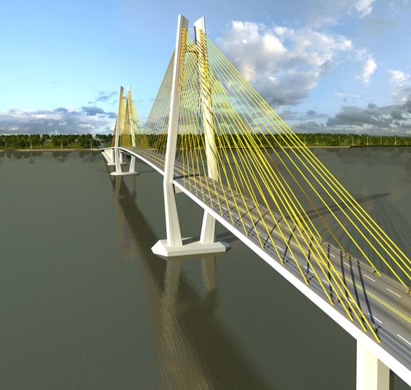 Đề xuất làm cầu Rạch Miễu 2 bằng vốn ngân sách cho nhanh - Ảnh 1.