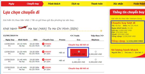 Việc niêm yết giá vé máy bay: minh bạch và tránh gây nhầm lẫn - Ảnh 1.