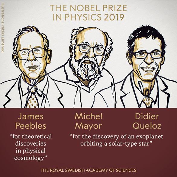 Nobel vật lý 2019 tôn vinh nghiên cứu về vũ trụ - Ảnh 1.