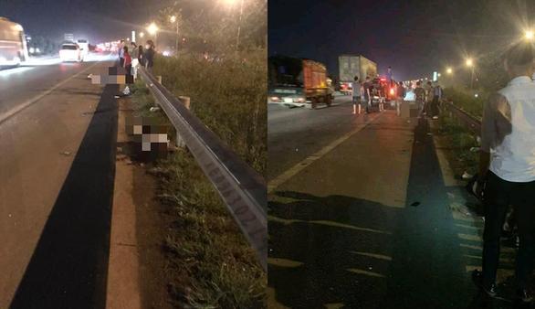 Băng qua đường cao tốc, 2 nữ công nhân bị xe tông chết, 1 người bị thương - Ảnh 1.