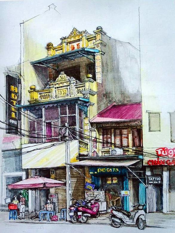 Vẽ phố cổ Hà Nội bằng cả hồi ức và trái tim - Ảnh 2.