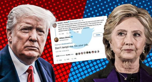 Ông Trump thách tái đấu, bà Hillary nhắn: Đừng xúi tôi! Tôi sẽ thắng ông! - Ảnh 1.