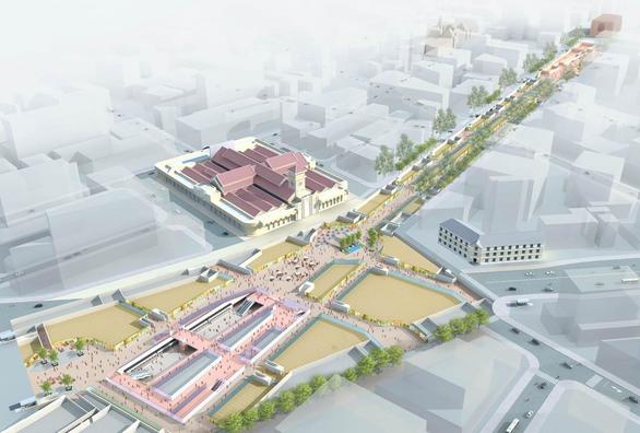 TP.HCM thi tuyển ý tưởng thiết kế không gian ngầm nhà ga trung tâm Bến Thành - Ảnh 1.