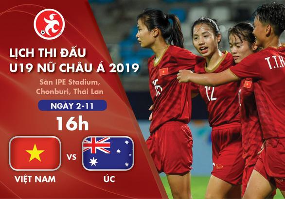 Lịch thi đấu Giải U19 nữ châu Á 2019: Việt Nam và Úc tranh vé vào bán kết - Ảnh 1.
